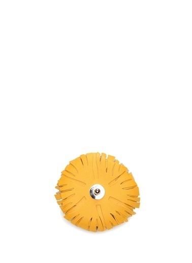 Loewe Loewe  Çiçek Formlu Kadın Deri Çanta Aksesuarı 101613424 Sarı